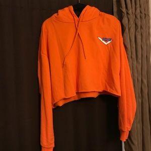 70e06449bbd97 Forever 21 Sweaters - Orange Pony Crop Sweatshirt